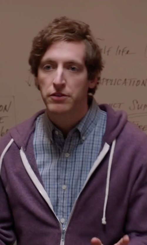 Thomas Middleditch with Alternative Apparel Rocky Eco-Fleece Zip Hoodie in Silicon Valley