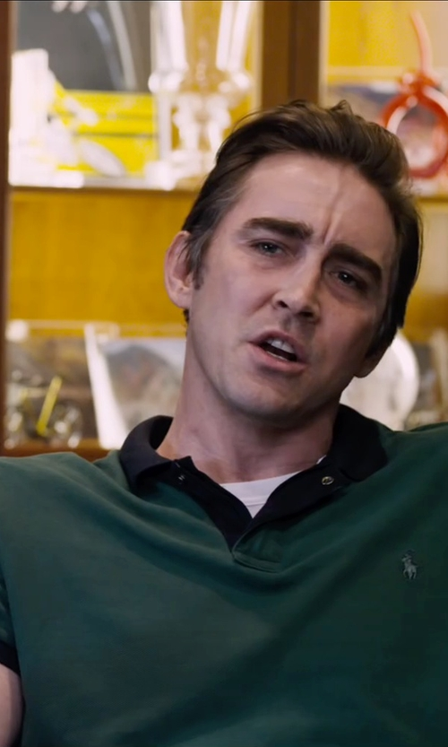 Lee Pace with Polo Ralph Lauren Custom-Fit Contrast-Collar Short-Sleeve Mesh Polo in The Program
