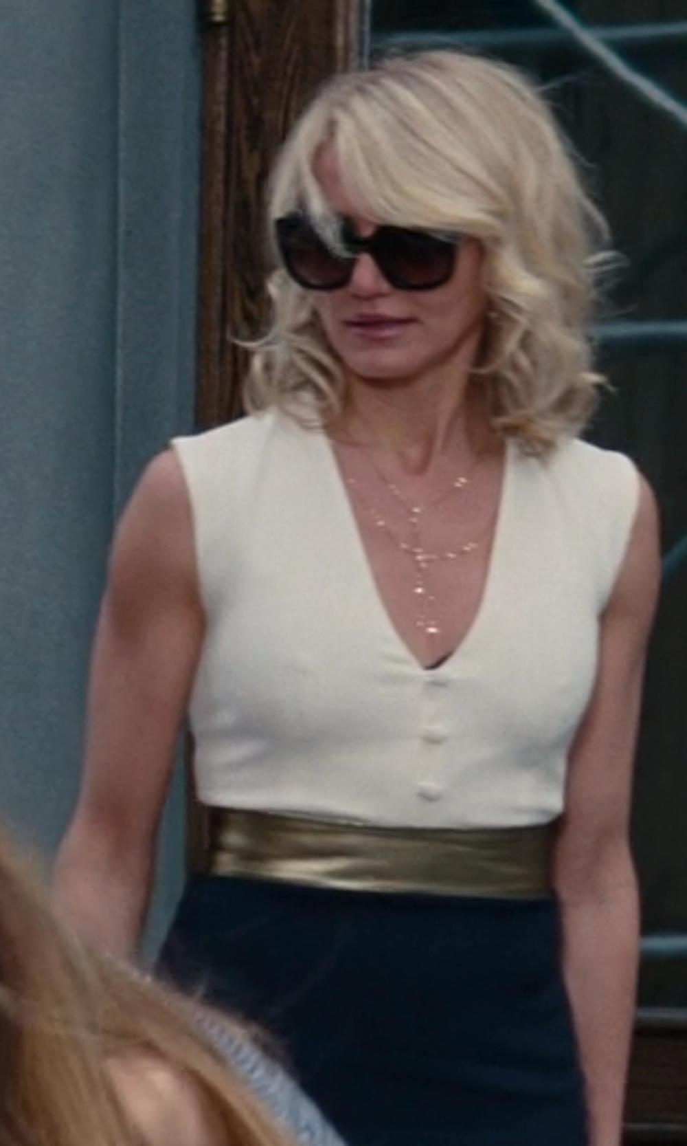 Cameron Diaz with Céline New Audrey Black Acetate Sunglasses in The Other Woman