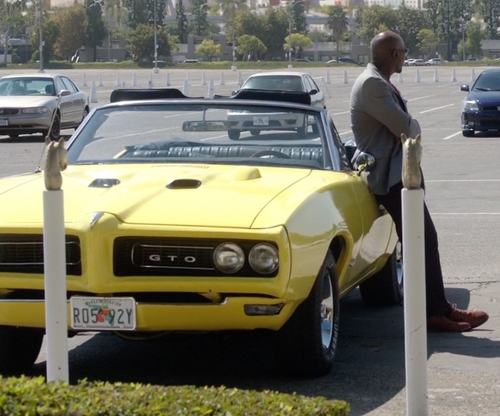 Morris Chestnut with Pontiac 1968 GTO Convertible in Rosewood