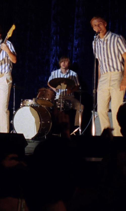 Kenny Wormald with Daniele Alessandrini Striped Shirt in Love & Mercy