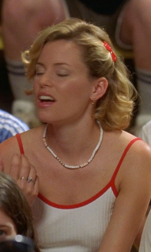 Elizabeth Banks with Splendid Cami Tank With Bra in Wet Hot American Summer