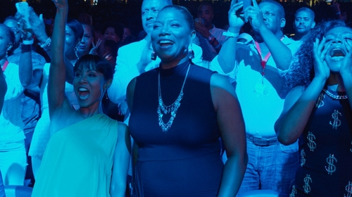 Queen Latifah with ATM Anthony Thomas Melillo Rib Jersey Dress in Girls Trip