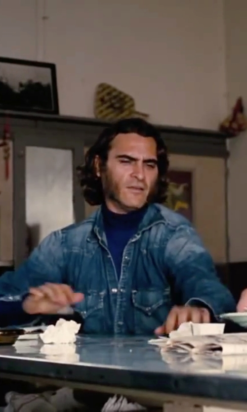 Joaquin Phoenix with Dr Denim Denim Shirt in Inherent Vice