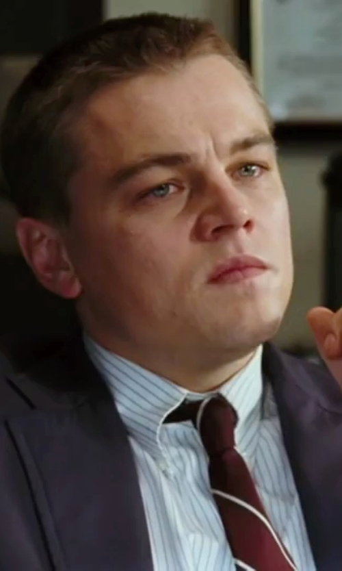 Leonardo DiCaprio with Tonello Notch Lapel Suit in The Departed