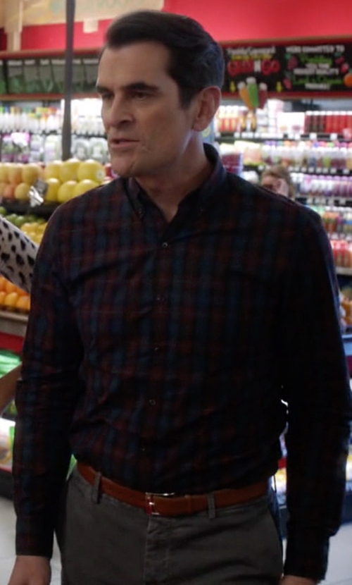 Ty Burrell with Gant Check Button Down Shirt in Modern Family