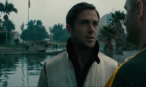 Ryan Gosling with MacArthur Park Los Angeles, California in Drive
