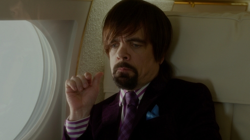 Peter Dinklage with Burberry London Woven Silk Tie in The Boss