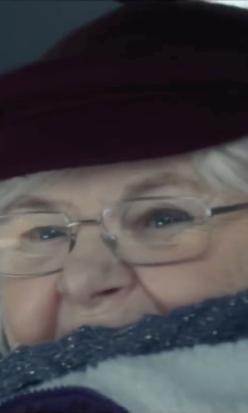June Squibb with Ray-Ban Rimless Eyeglasses in Love the Coopers
