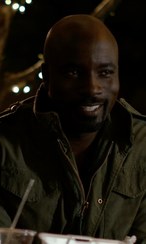 Mike Colter with Woolrich John Rich & Bros. Travel Field Jacket in Jessica Jones