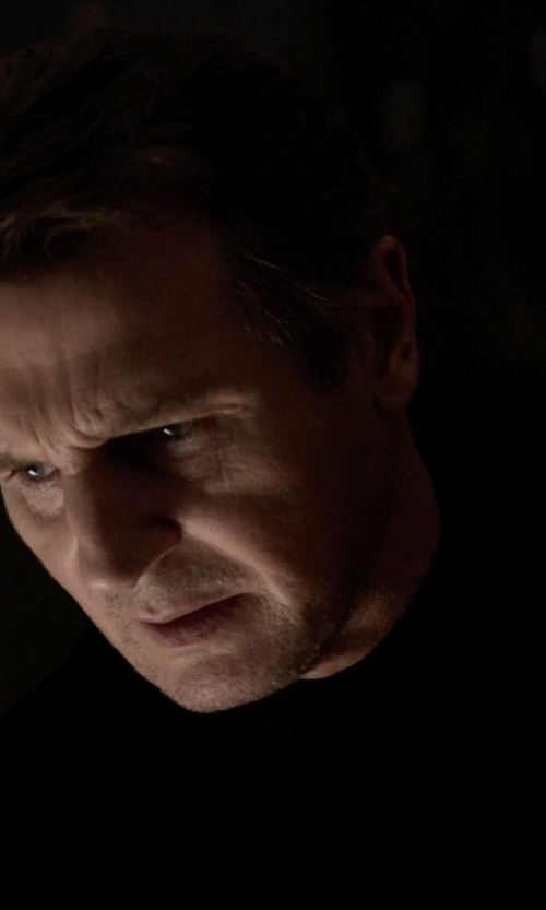 Liam Neeson with Ralph Lauren Blue Turtle Neck Sweater in A Walk Among The Tombstones