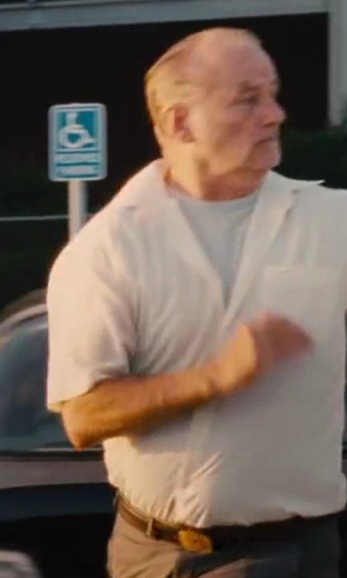 Bill Murray with Raleigh Denim Crew Neck T-Shirt in St. Vincent