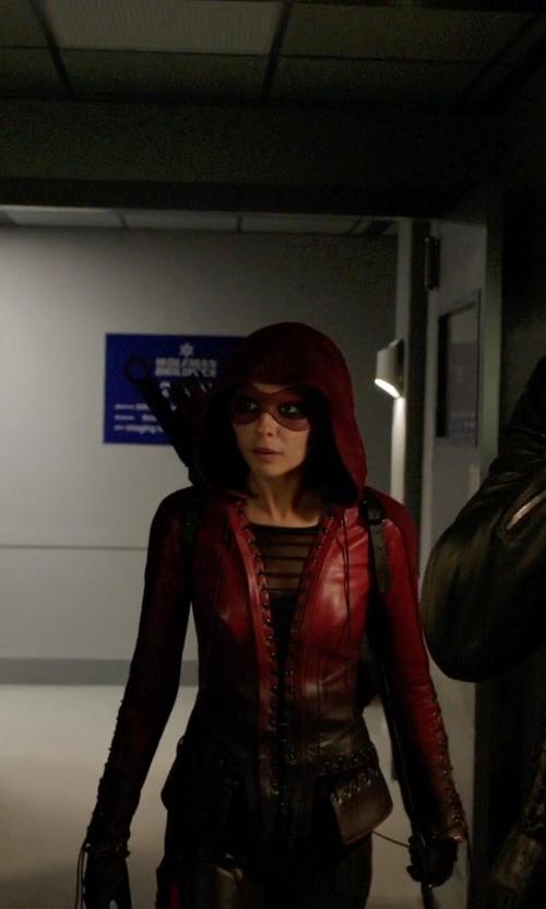 Willa Holland with Maya Mani (Costume Designer) Custom Made 'Speedy' Costume in Arrow