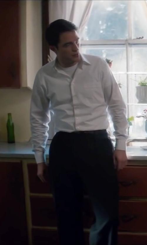 Robert Pattinson with Ike Behar Solid Dress Shirt in Life