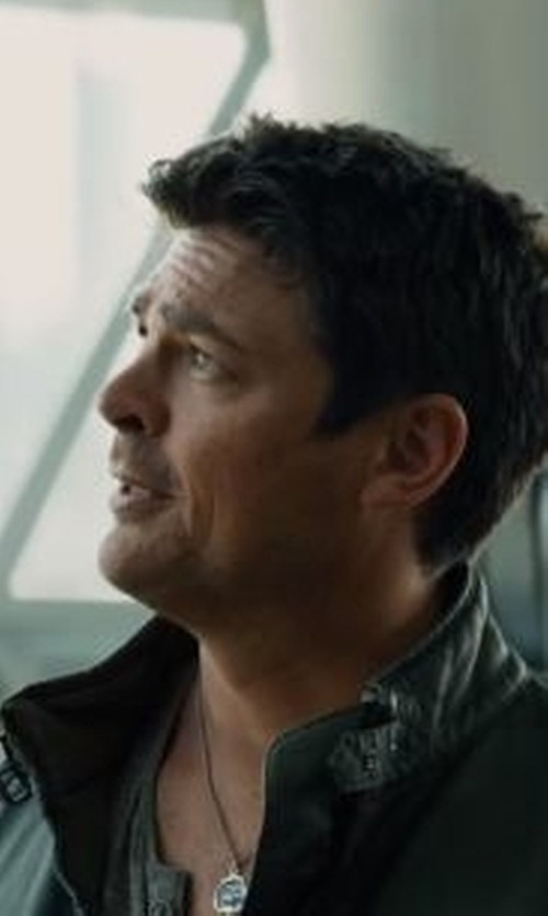 Karl Urban with Pyrrha Carpe Diem Necklace in Star Trek Beyond