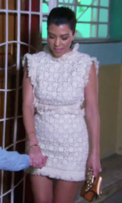 Kourtney Kardashian with Jonathan Simkhai Tower Lace Dress in Keeping Up With The Kardashians