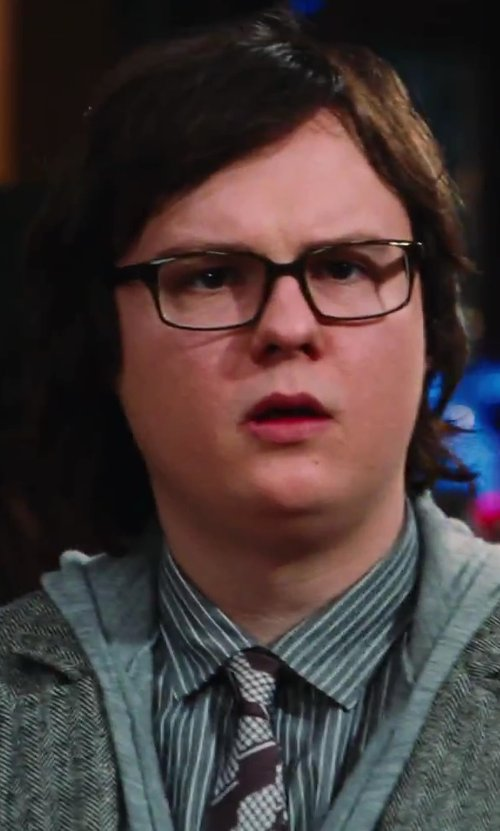 Clark Duke with Missoni Multicolor Pattern Tie in Hot Tub Time Machine 2