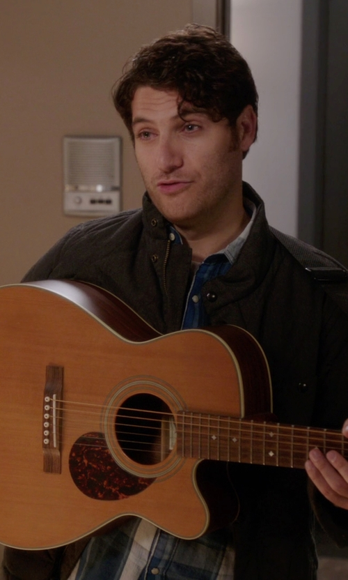 Adam Pally  with Cutter & Buck Birch Bay WeatherTec Water Resistant Field Jacket in The Mindy Project