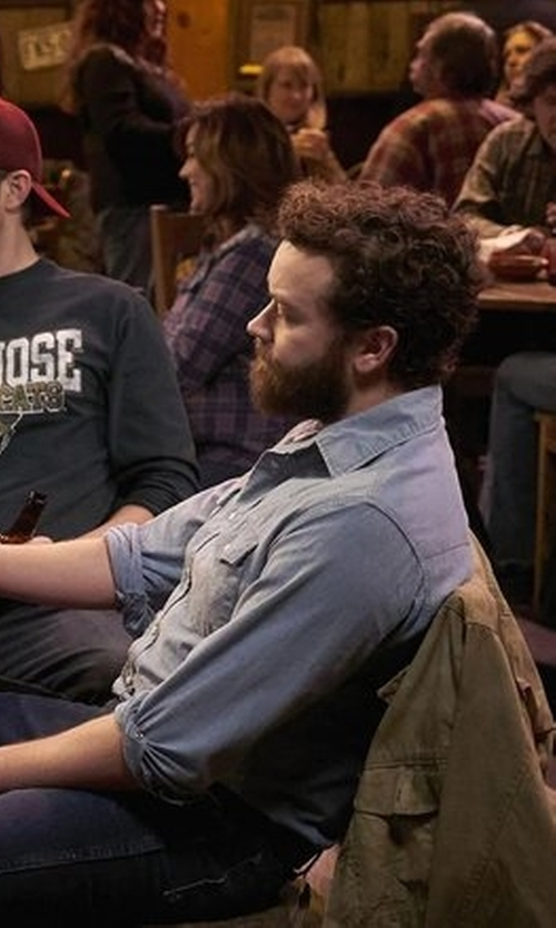 Danny Masterson with Jack Spade Cormac Chambray Work Shirt in The Ranch