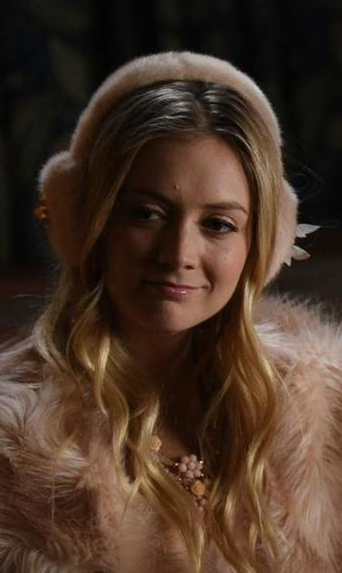 Billie Lourd with RJ Graziano Small Flower Pendant Necklace in Scream Queens