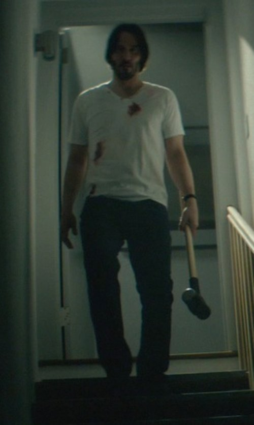 Keanu Reeves with Ralph Lauren Straight-Fit Prospector Jeans in John Wick