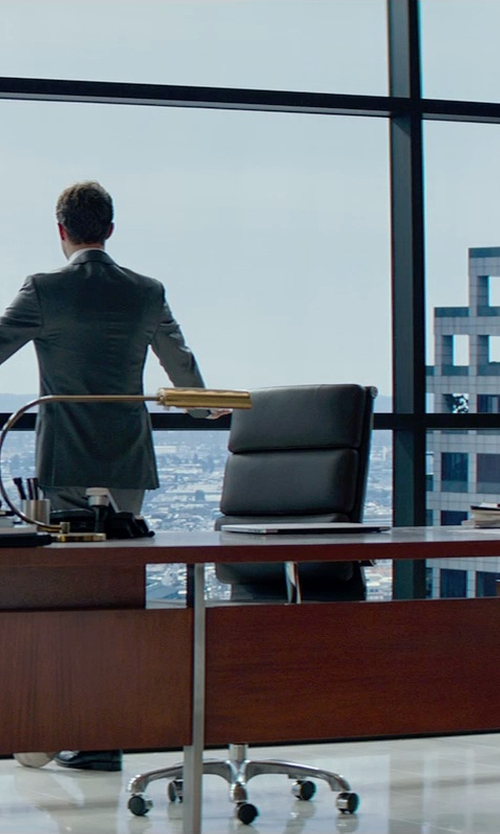 Jamie Dornan with UTM Rectangular Glass Door Modern Executive Office Desk Set in Fifty Shades of Grey