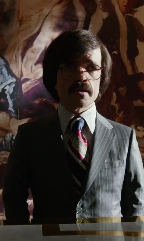 Peter Dinklage with brooksbrothers Regent Fit Wool and Linen Striped Suit in X-Men: Days of Future Past
