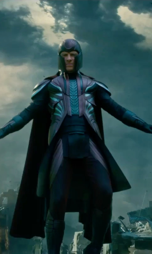 Michael Fassbender with Louise Mingenbach (Costume Designer) Custom Made Magneto Costume in X-Men: Apocalypse