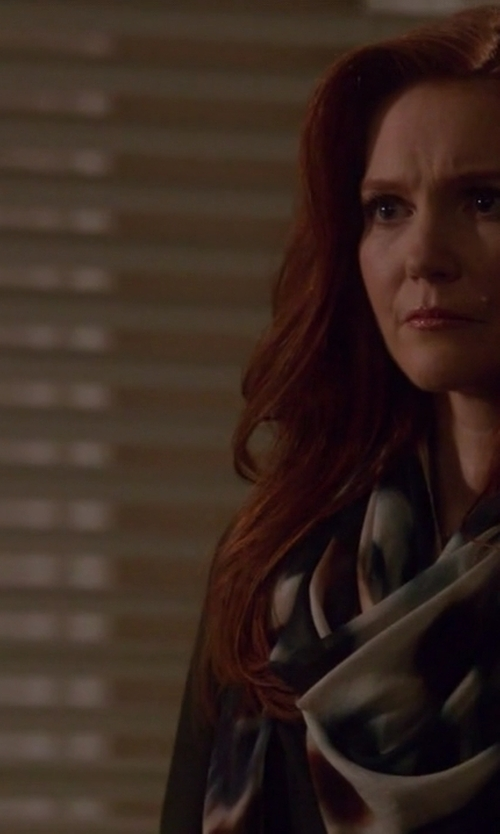 Darby Stanchfield with Faliero Sarti Printed Scarf in Scandal