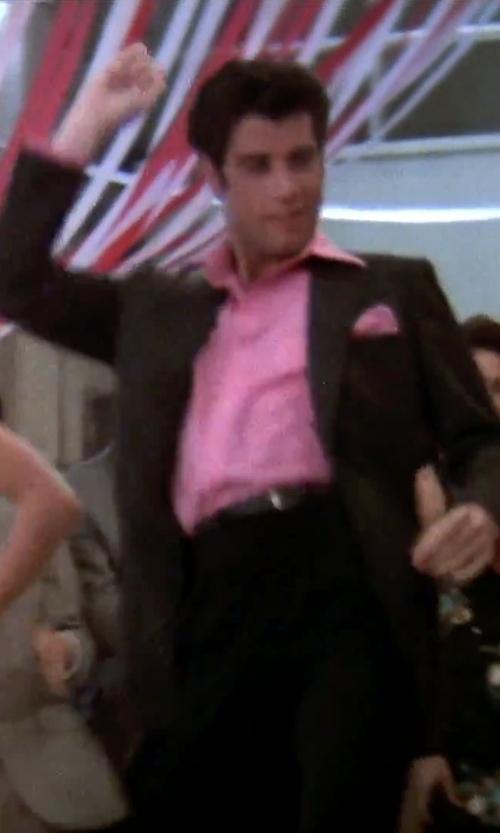 John Travolta with Calvin Klein Men's Melborn 2 Button Side Vent Sport Coat in Grease