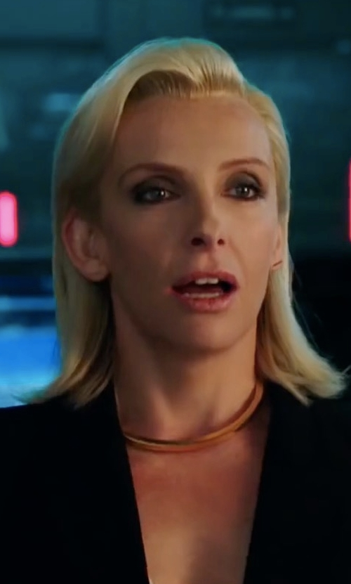Toni Collette with Michael Michael Kors Long Two-Button Blazer in xXx: Return of Xander Cage