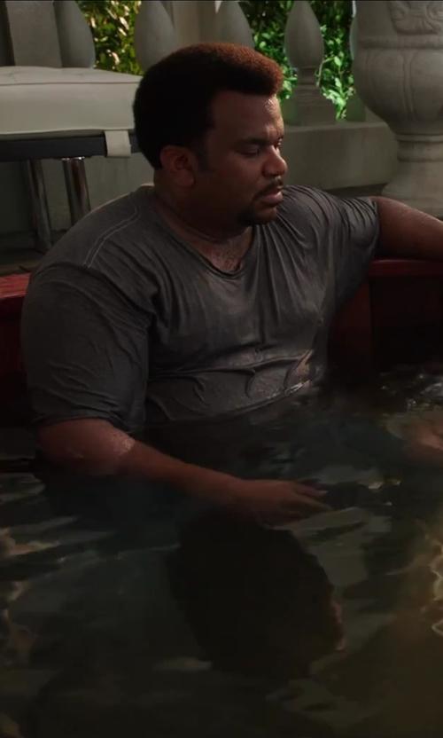 Craig Robinson with Rag & Bone Basic T-Shirt in Hot Tub Time Machine 2