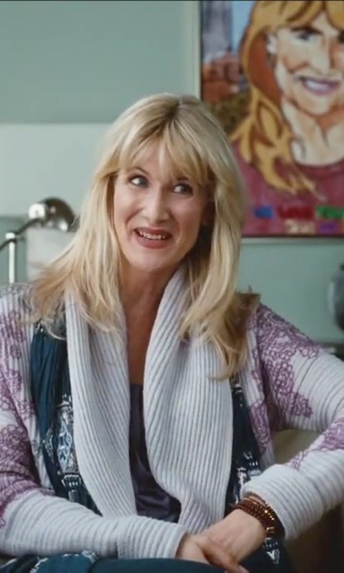 Laura Dern with DWR Goodland Leather Armchair in Little Fockers