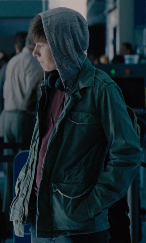 Nick Robinson with Alpha Industries Men's Alpha Industries 'M-65 Caiman' Field Jacket in Jurassic World