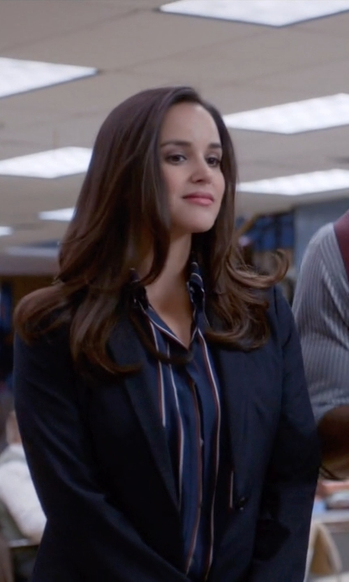 Melissa Fumero with Theo Tailored Pocket Blazer in Brooklyn Nine-Nine