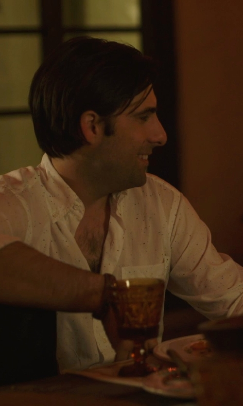 Jason Schwartzman with MMA001 Leather and Copper Bracelet in The Overnight