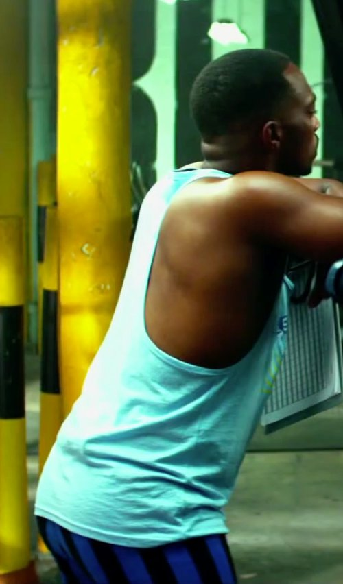 Anthony Mackie with Sun Gym Men's Tank Top Muscle Stringer in Pain & Gain