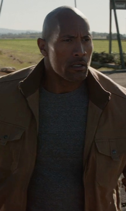 Dwayne Johnson with River Island Marl Crew Neck T-Shirt in San Andreas