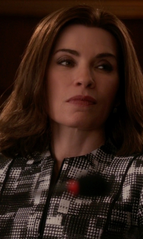Julianna Margulies with Lafayette 148 New York Graphic-Print Jacket in The Good Wife
