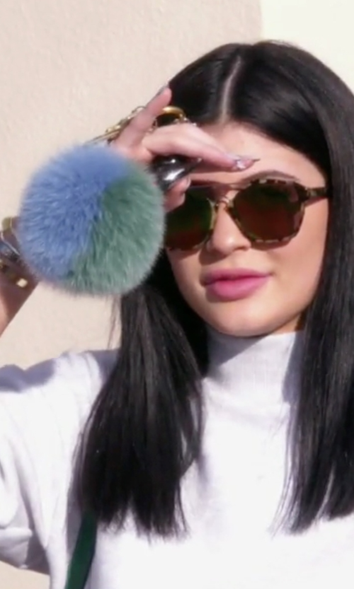 Kylie Jenner with Fendi Pompon Bag Charm in Keeping Up With The Kardashians