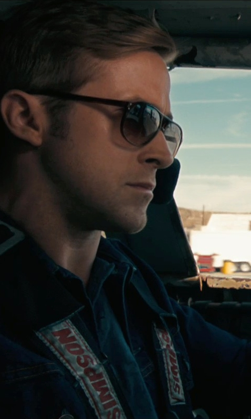 Ryan Gosling with Selima Optique Money 2 Aviator Sunglasses in Drive