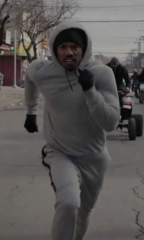 Michael B. Jordan with Nike Sportswear Tech Fleece Pant in Creed