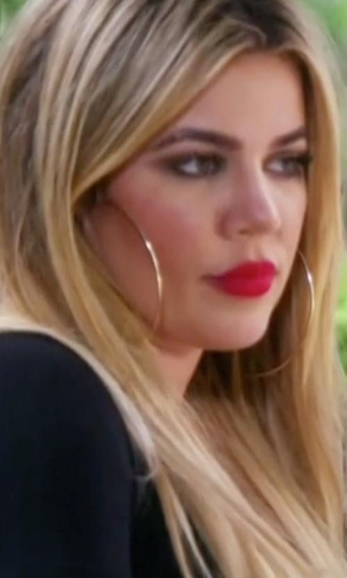 Khloe Kardashian with Lana Flat Magic Hoop Earrings in Keeping Up With The Kardashians