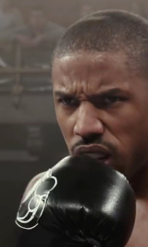 Michael B. Jordan with Grant Custom Made All-Black Boxing Gloves in Creed