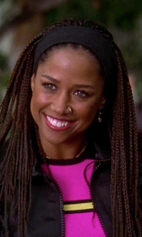 Stacey Dash with L. Erickson Relaxed Turban Headband in Clueless