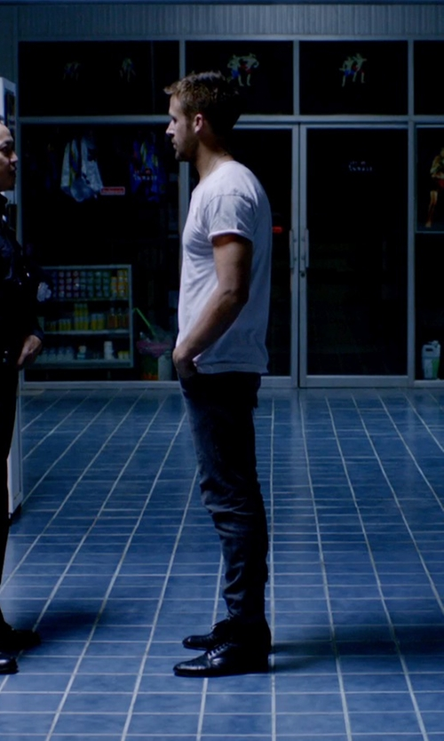Ryan Gosling with Stacy Adams Men's Madison Cap Toe Boots in Only God Forgives