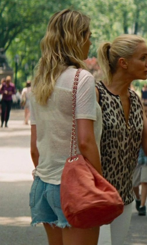 Kate Upton with Donatienne Custom Made Boney Bucket Bag in The Other Woman