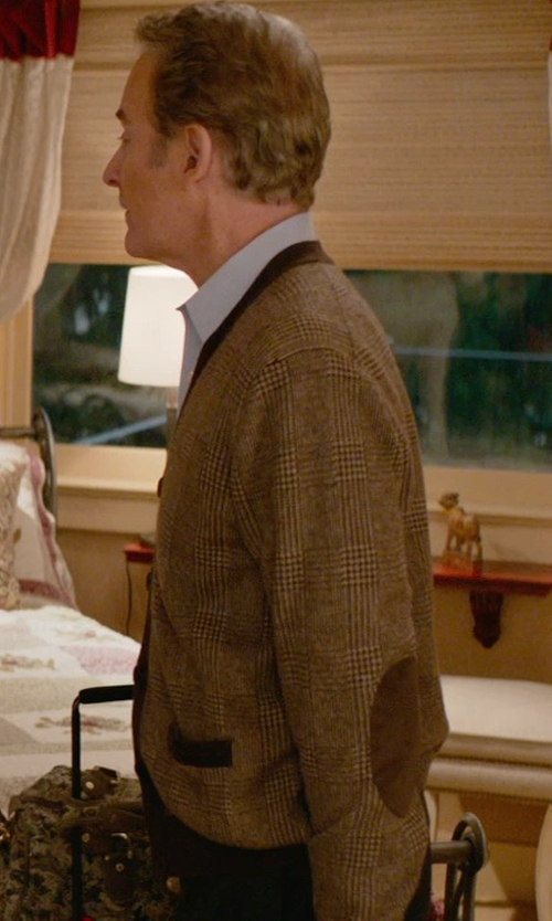 Kevin Kline with Brooks Brothers Glen Plaid Cardigan in Ricki and the Flash