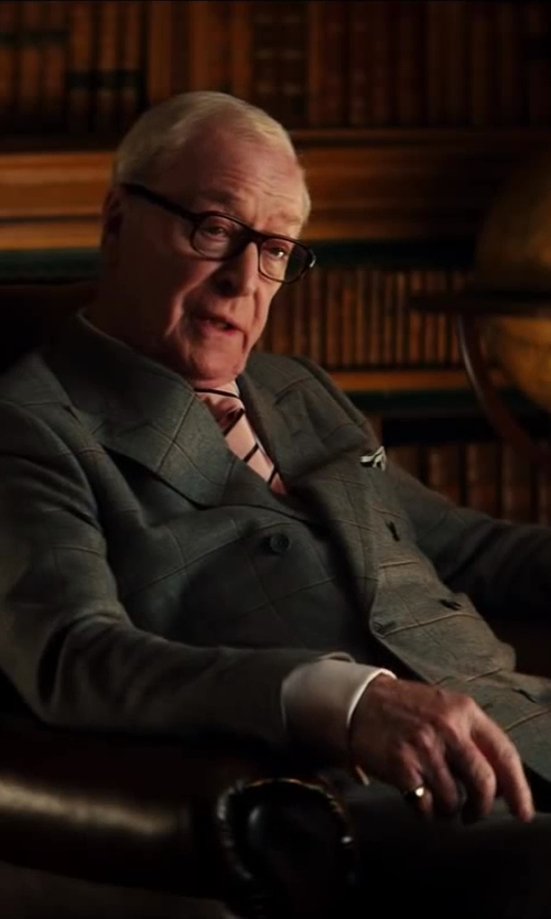 Michael Caine with Drake's Wool And Silk-Blend Pocket Square in Kingsman: The Secret Service