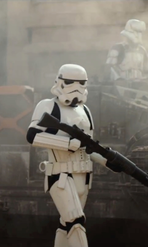Unknown Actor with Rubie's Deluxe Stormtrooper Adult Costume in Rogue One: A Star Wars Story